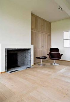 Walk in fire place Residential Architecture, Interior Architecture, Restored Farmhouse, Light Colored Wood, Belgian Style, Home Renovation, Modern Rustic, Flooring, Indoor Fireplaces
