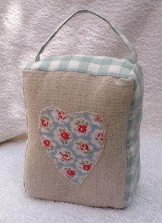Door+Stop+Laura+Ashley+Fabric+'Gingham'+Duck+Egg+by+GinghamDesigns,+£9.99