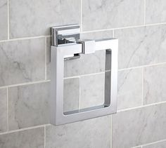 This Alcott Towel Ring from #potterybarn will go in the upstairs spare bathroom