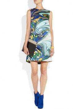 Stella McCartney barton printed silk-satin dress 6