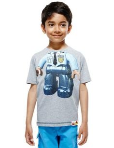 Pure Cotton LEGO® Police T-Shirt (1-6 Years) | M&S