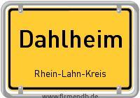 Ortsschild von Dahlheim