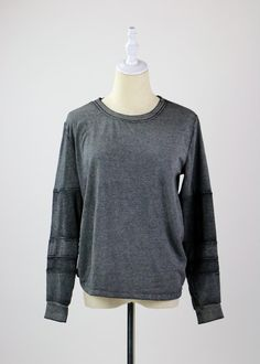 Thread for Thought Slouchy Top Grey Long Sleeve Tops, Girl Gang, Pullover, Thoughts, Sweatshirts, Sweaters, Gems, Workout, Fashion
