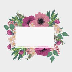 Vintage frame with flowers Flower Background Wallpaper, Cute Wallpaper Backgrounds, Flower Backgrounds, Cute Wallpapers, Background Banner, Vector Background, Flower Boarders, Flower Frame, Boarders And Frames
