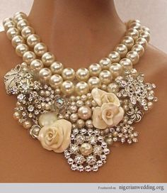 Nigerian-wedding-pearl-coral-bead-necklace-1.jpg (500×577)