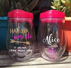 Hakuna Moscato Tumbler Stemless Wine Tumbler Wine Cup Girls Weekend Bridesmaid Gift Bridal Party Bridal Gift Personalized Bachelorette Favor by AveryAnnBoutique on Etsy