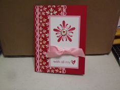 Hello Peeps  Happy Monday  Another Valentine card using this