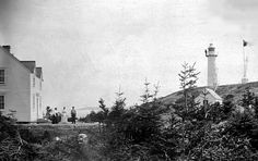King's Cove Lighthouse and dwelling in 1924. Photo courtesy of Canadian Coast Guard