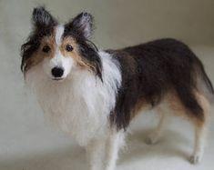 Needle Felted Dog Pet Portrait Sheltie Shetland Sheepdog Collie #felteddog