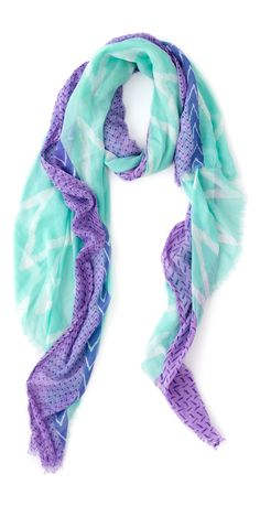 Mint + purple scarf