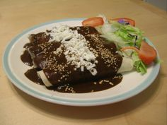 Real Mexican Food, Mexican Food Recipes, Mole, Queso Fresco, Mexican Dishes, Enchiladas, Pudding, Cooking, Desserts