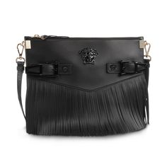 Fringe fever - #VersacePalazzoBag fringe shoulder. Find more bold Palazzo accessories on versace.com #VersaceWomenswear #Versace
