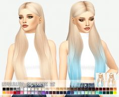Sims 4 Updates: Miss Paraply - Hairstyles : LeahLillith Silhouette x2, Custom Content Download!