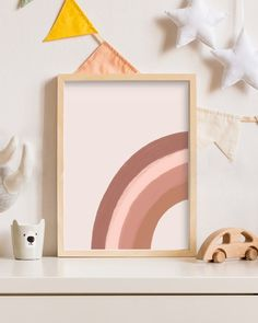 Rainbow Wall, Rainbow Print, Kids Rainbow, Baby Decor, Nursery Decor, Girl Decor, Alphabet Nursery, Handmade Market, Black And White Wall Art
