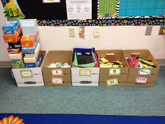 At Open House, have students and parents put supplies in large boxes and then the teacher can sort and put away later. (This might save a huge mess!)