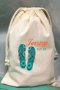 Drawstring Bags Wedding FavorParty Favor  by WhoDoesntWantThat, $3.00