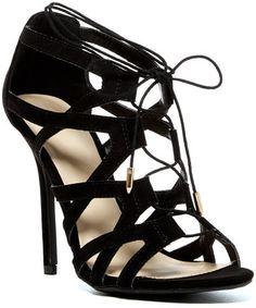 Legend Footwear Adele Lace-Up Cage Heel