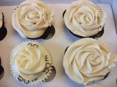 Image detail for -50th Golden Wedding Anniversary Cupcakes | Danni Does Cupcakes