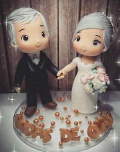Wedding Vows, Our Wedding, Wedding Cake Toppers, Wedding Cakes, Cake Banner, Parents Anniversary, Just Cakes, Pasta Flexible, Cold Porcelain