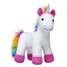 9f760699ad2 ... lands with the adorable Color Craze Rainbow Unicorn stuffed animal!  With pristine white fur
