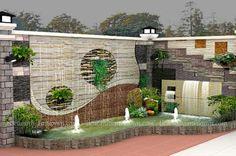 tieu canh ban cong can ho 3 Ponds Backyard, Backyard Landscaping, Pond Design, Garden Design, Landscape Walls, Landscape Design, Patio Garden Ideas On A Budget, Indoor Garden, Home And Garden