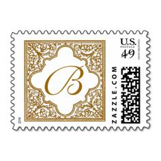 Brown Vintage Frame Monogrammed Postage Stamps. It is really great to make each letter a special delivery! Add a unique touch to invites or cards with your own photos or text. Just click the image to learn more!