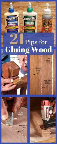 Speed up your woodworking projects, improve the quality of glue connections and make your project look better with these tips for gluing wood. FREE: Download 50 WoodWorking Plans For All Your Projects! #WoodworkingProjectsDownload