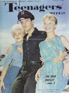 "mid-centurylove:  December 12 1962 Elvis Presley and his two co-stars in the movie 'Girls!Girls!Girls!"" Stella Stevens and Laurel Godwin."