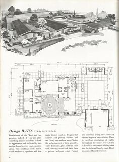 1970 Ranch House Plans Inspirational Vintage House Plans Western Ranch Style Homes Vintage House Plans, Modern House Plans, Vintage Homes, Ranch House Plans, House Floor Plans, Mcm House, Ranch Style Homes, Mid Century House, Kit Homes