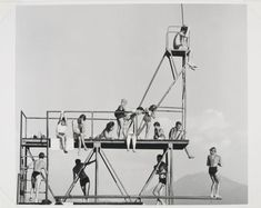 Peter Keetman, 1957, O.T.  / Untitled (Children on the Diving Board)