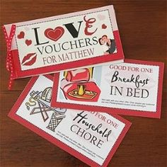 Personalized Coupon Book Romantic Gift - Vouchers Of Love  $6.95