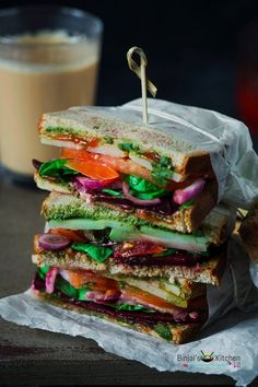 Oct 22, 2018 - Bombay Sandwich or Indian Style Club Sandwich, is no fuss, quick and easy. Bombay Sandwich is a healthy option. Bombay Sandwich is an instant breakfast.