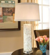 REGINA-ANDREW DESIGN Mother of Pearl Column Lamp with Lucite Base | Bloomingdale's