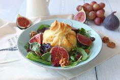 Salát s fíky a kozím sýrem v listovém těstě Portobello, Pina Colada, Naan, Tahini, Gnocchi, Hummus, Red Velvet, Potato Salad, Cheesecake