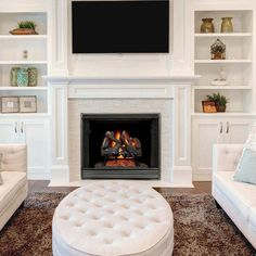 There's no possibility of having a fireplace in my home. A real fireplace, that is. It's a faux fireplace or nothing. Would that be a bad thing to do? Natural Gas Fireplace, Gas Fireplace Logs, Home Fireplace, Fireplace Remodel, Living Room With Fireplace, Fireplace Surrounds, Fireplace Design, Fireplace Mantels, Fireplace Ideas