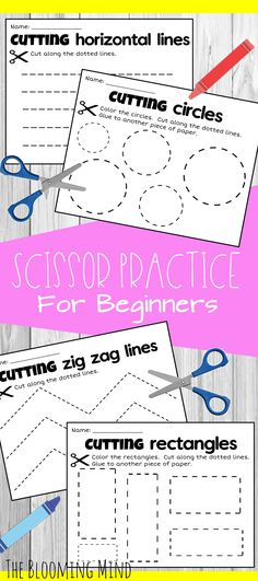 Do your students need to practice basic scissor and cutting skills? This set was designed to help students learn to color, cut, and paste while learning about 2D shapes. This NO PREP fine motor activity is perfect for Preschool, Kindergarten, special education, or occupational therapy ! Included are 20 practice sheets for cutting all types of lines (straight, wavy, zigzag, and curved) and cutting out basic shapes.  Visit my store for TONS of other scissor practice activities!