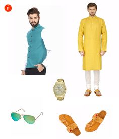 Styling tips for a colourful ethnic look. #dapper #traditional #men #festive #bright