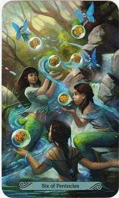 Mermaid Tarot, Oracle Tarot, Oracle Deck, All Tarot Cards, Love Tarot, Cartomancy, Affirmation Cards, Love Illustration, Ravenna