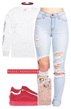 """8/13/16"" by codeineweeknds ❤ liked on Polyvore featuring Billabong, Vans, Rock 'N Rose and Casetify"