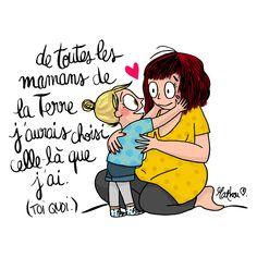 Illustration de Mathou ~ Amour mère fille ~ Joie d'être maman