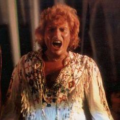 Tenues de scène de Johnny Hallyday— Tournée 79 Costume Blanc, Photos, French, Scene Outfits, Fringe Coats, World, Photography, Pictures, French People
