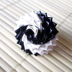 Black and White spiral Duck Tape rose