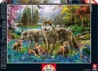 Wolf Family - Jigsaw Puzzle By Educa (discon) Puzzles, Jigsaw, Family Canvas, Family Print, Family Wall, Diamond Art, Crystal Diamond, Diamond Cross, Tier Fotos