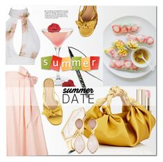 """Summer Date: The Beach"" by drn57 ❤ liked on Polyvore featuring Lisa Marie Fernandez, Dolce&Gabbana, tarte, The Row, Dina Mackney, beach and summerdate"