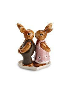 """4"""" Ceramic Easter Decor Bunny Rabbit Kissing Figural Salt and Pepper Shakers by American Chateau. $8.99. Size: 4"""" H x 3"""" L x 2"""" W. You get 1 Piece. Color: Multicolor. Material: CERAMIC. Color: Multicolor; Material: CERAMIC; Size: 4"""" H x 3"""" L x 2"""" W; You get 1 Piece"""