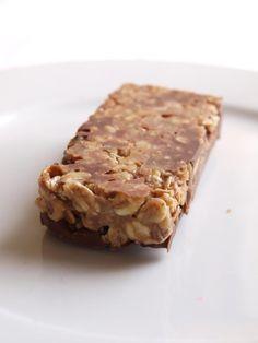 Barres de céréales maison, chocolat au lait-noisettes