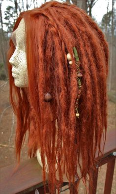 Lace-Front Synthetic Dreadlock Wig * Ginger Red * Synthetic Dreads * Wool Dreads *Dreadlocks Extensions * Cosplay * Festival * Hula Hooping
