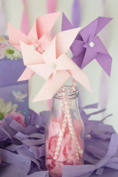 paper pinwheels party favor for kids