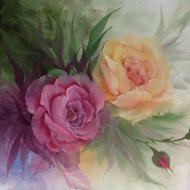 Spring Hand Painted Sun Flower Greeting Card by KarenUnderwoodArt