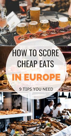 Budget travel doesn't have to include struggle means in Europe on vacation. It's easier to save money on food while traveling than you'd think. Read this guide to eating in countries like Spain and Italy on a budget for the best (inexpensive) foods to try Europe Destinations, Europe Travel Guide, Budget Travel, Travel Guides, Travel Info, Travel Rewards, Travelling Tips, Travel Hacks, Travel Bag